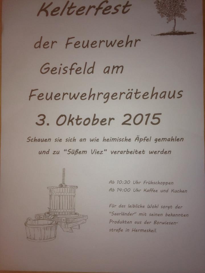 Zur Facebookseite von Geisfeld!