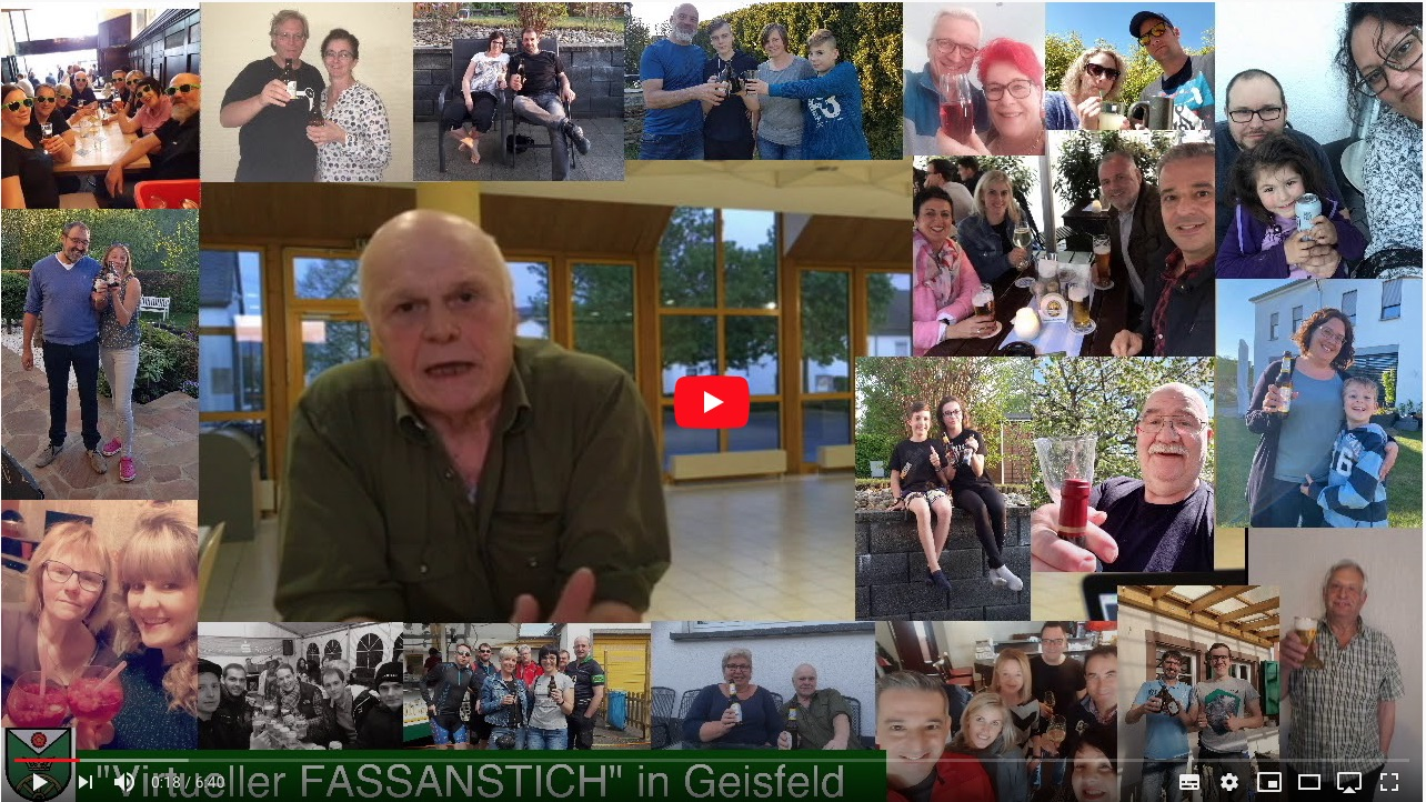 Klick - Video vom virtuellen Fassanstich auf YouTube anschauen!